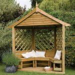 Wooden Arbours - Hartwood FSC Hathaway Half Arbour