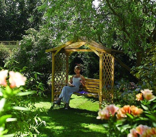 Pantheon Poseidon Swing Garden Arbour Seat 6'x3'