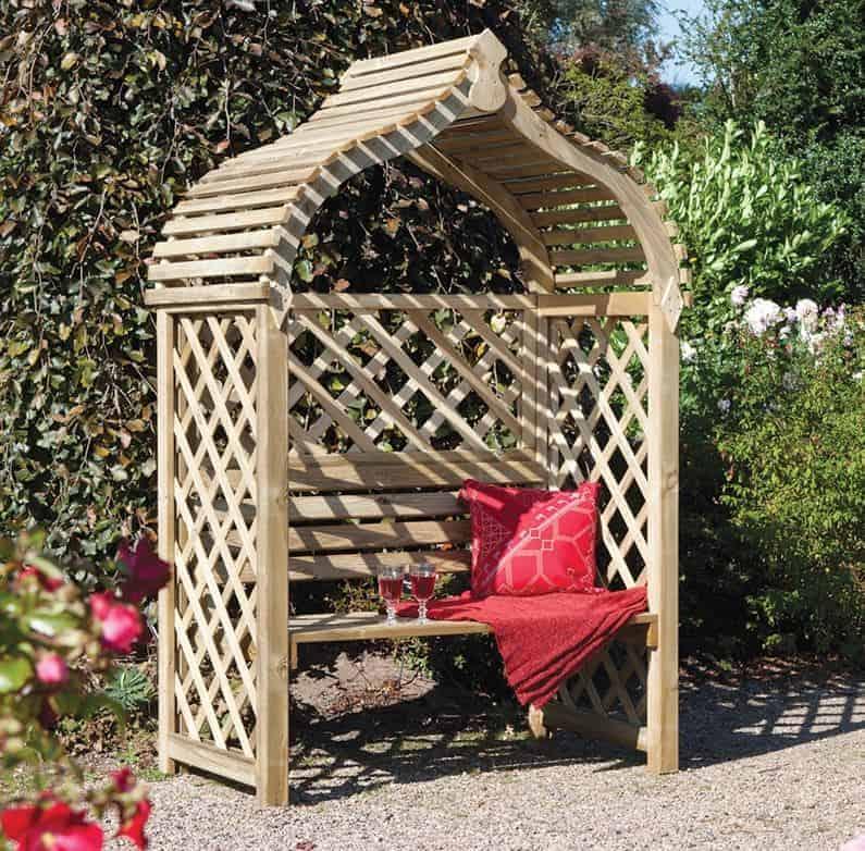 Rowlinson Jaipur Garden Arbour Seat 4'x3'