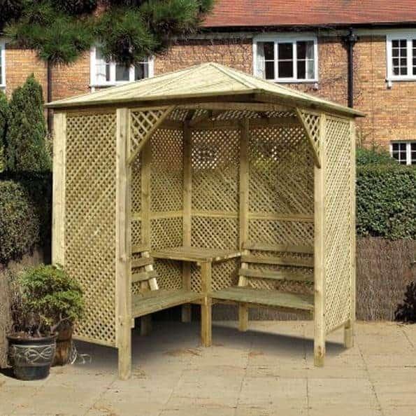 Wooden Garden 'Valencia' Design Corner Arbour