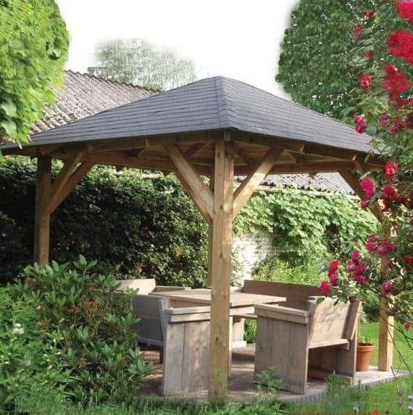 3.3x3.3m (11'x11') Palmako Betty Garden Pavilion - Luxury Gazebo