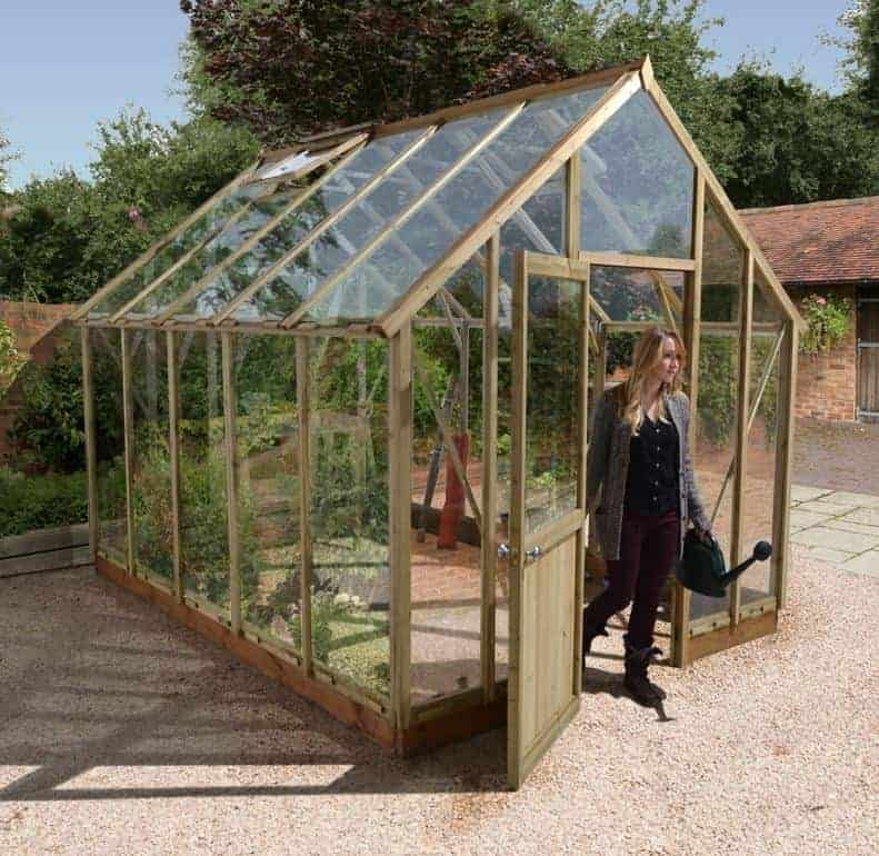 10'x8' Forest Sherbourne Victorian Wooden Greenhouse (3.3x2.4m)