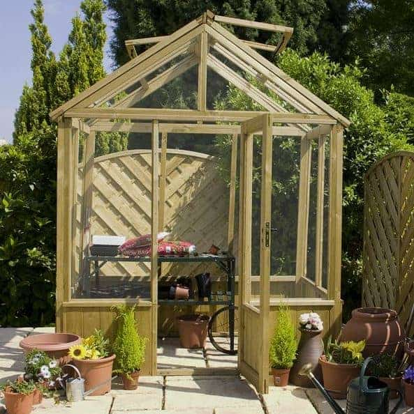 Waltons 6 x 6 Evesham Wooden Greenhouse