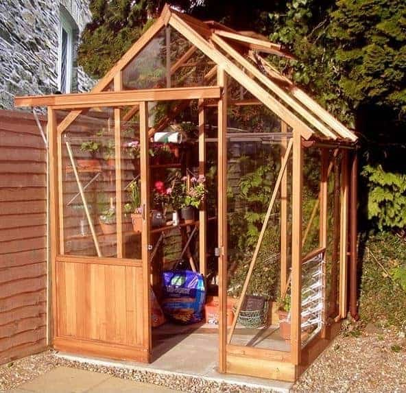 6'x4' Forest Sherbourne Victorian Wooden Greenhouse (1.8x1.2m)