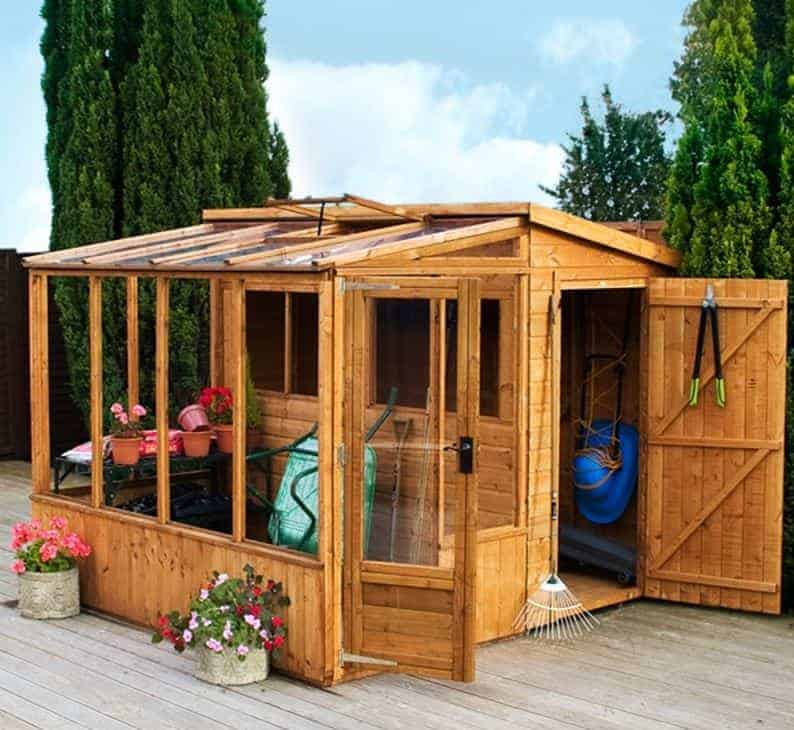 8'3 x 8'2 Windsor Combi Wooden Greenhouses