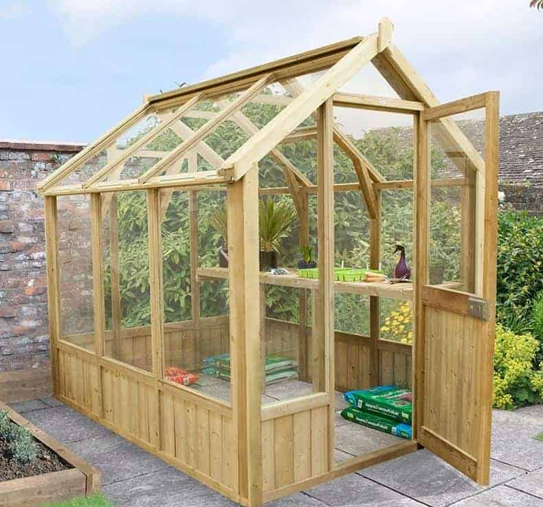 8 x 6 Grow-Plus Vale Wooden Greenhouses
