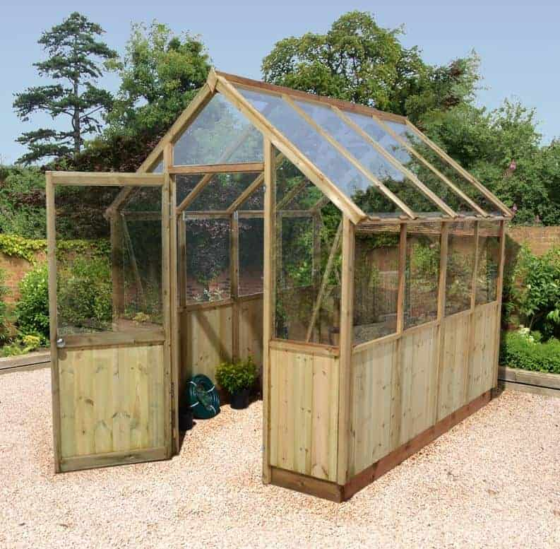 8'x6' Forest Sherbourne Victorian Wooden Greenhouse (1.8x1.2m)