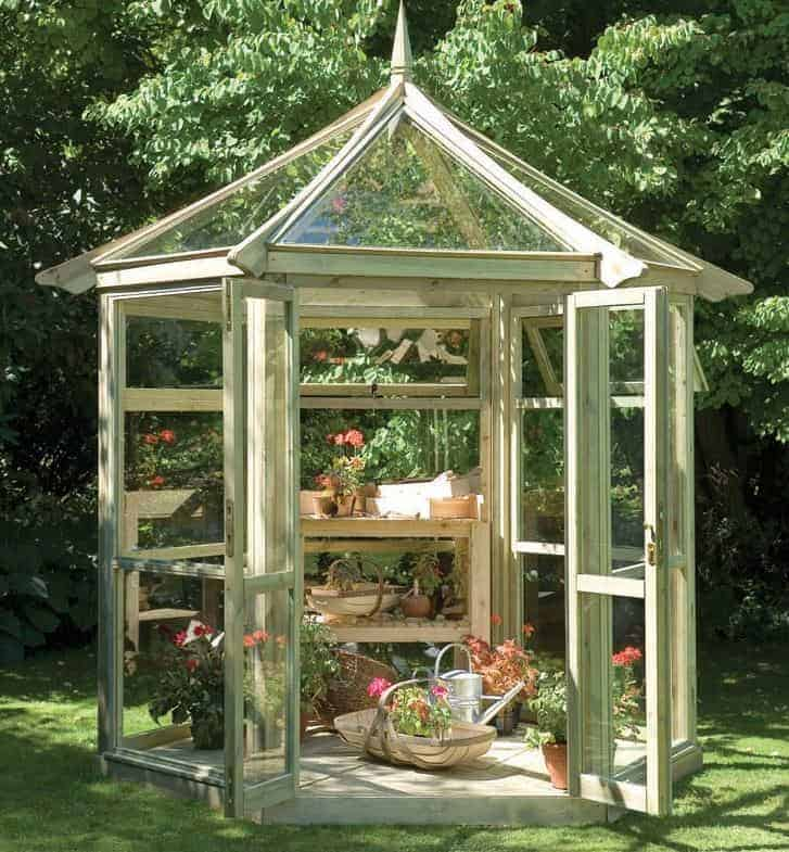 Forest Buckingham Wooden Glass Greenhouse