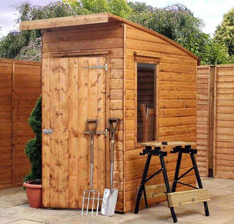 6 x 4 tongue and groove curved roof aero wooden storage sheds