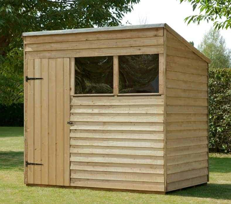 7' x 5' Forest Overlap Pent Pressure Treated Wooden Shed (2.1m x 1.53m)