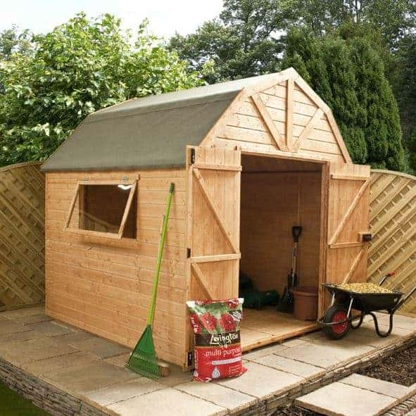 8 x 8 Premier Tongue And Groove Dutch Barn Wooden Storage Sheds