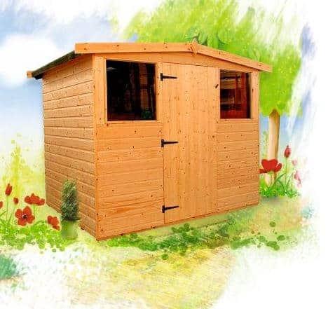 rushton 6 x 10 dart transverse apex roof wooden storage sheds