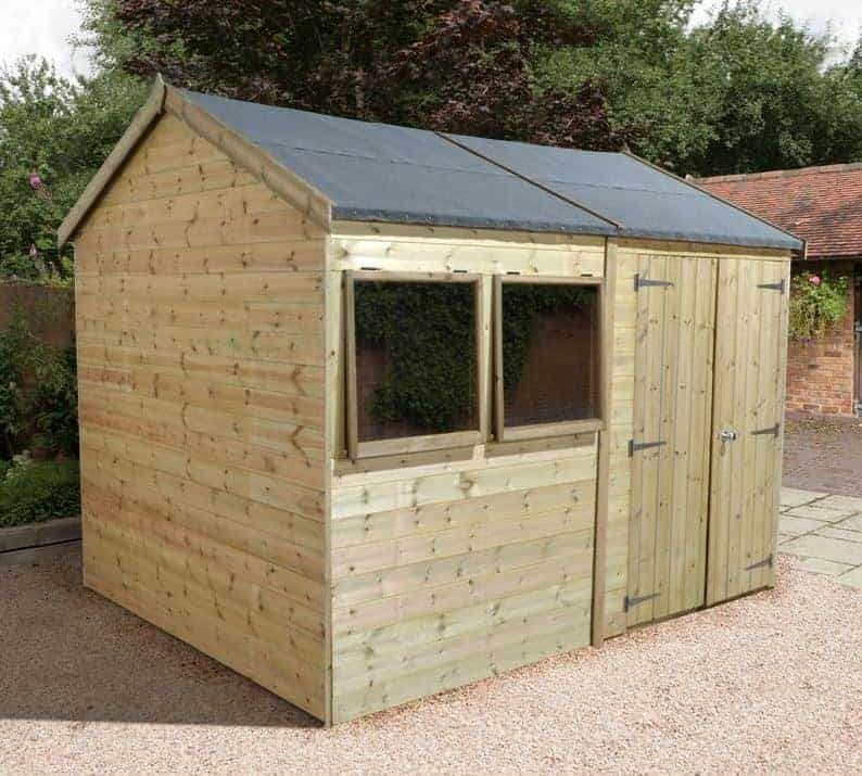 12' x 10' Shed-Plus Champion Heavy Duty Reverse Apex Double Door Shed (3.66x3.05m)