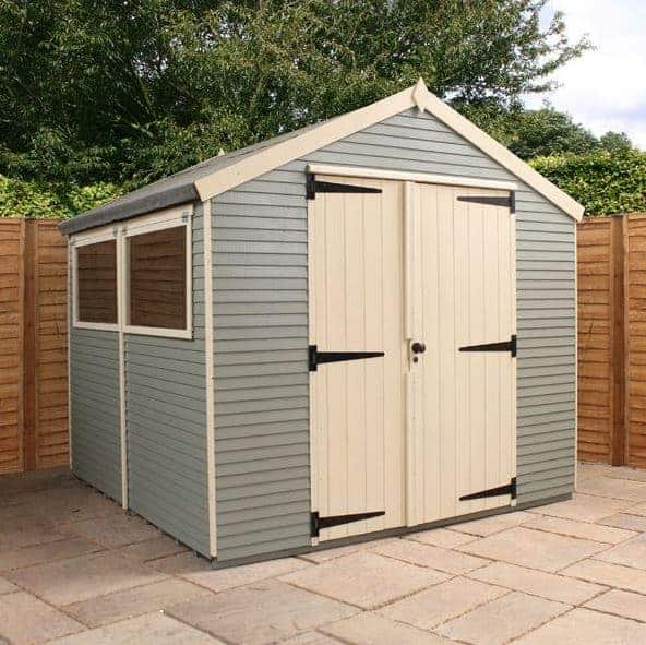 Waltons 8 x 8 Pressure Treated Shiplap Double Door Apex Wooden Garden Shed
