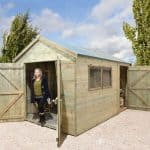 Workshop Sheds - 12 x 8 Shed-Plus Champion Heavy Duty Combination Workshop Sheds