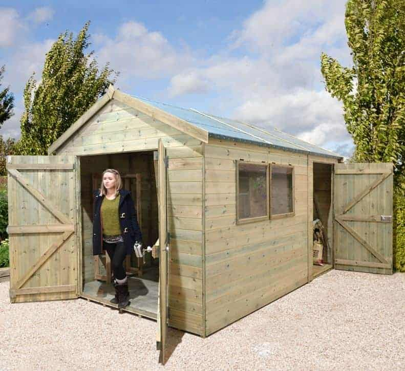 10' x 8' Shed-Plus Champion Heavy Duty Combination Double Door Shed (3.02m x 2.44m)