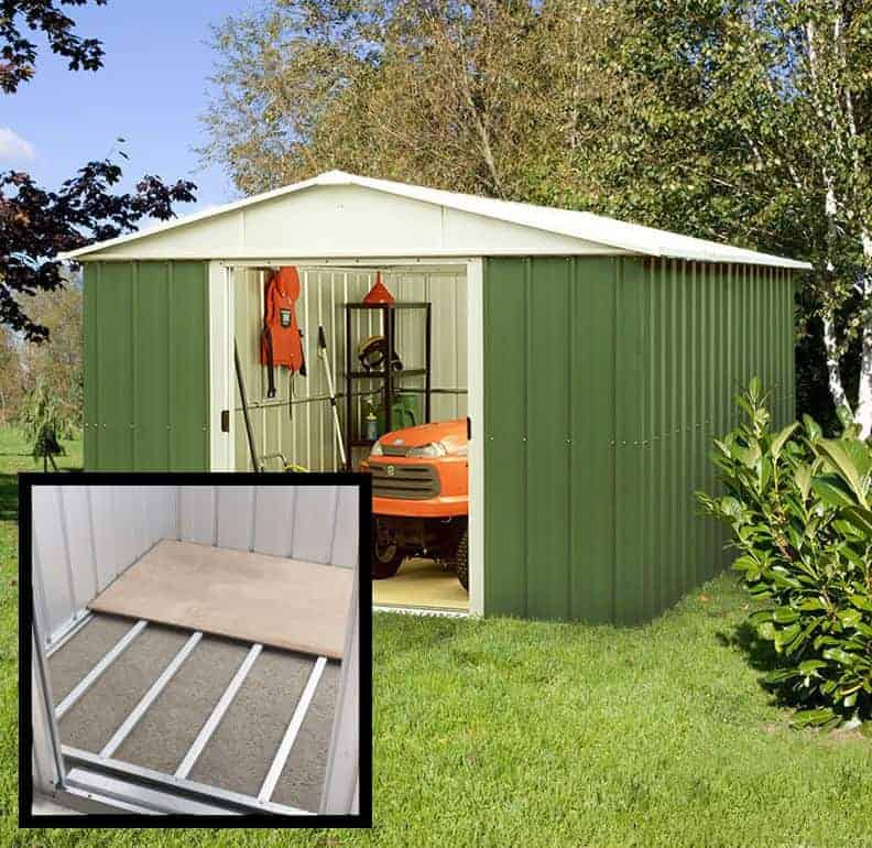 10' x 10' Yardmaster Green Metal Shed 1010GEYZ (3.03m x 2.98m)
