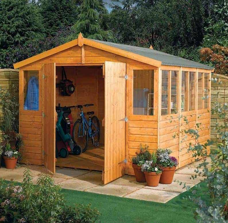 9' x 9' Rowlinson Wooden Garden Workshop/ Shed Range (2.89m x 2.89m)