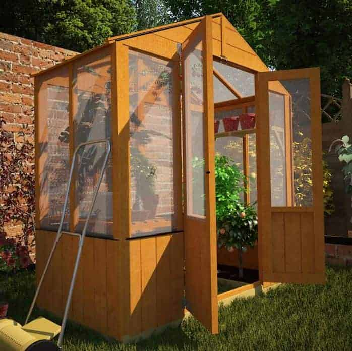 3 x 6 BillyOh 4000 Lincoln Wooden Polycarbonate Cheap Greenhouse