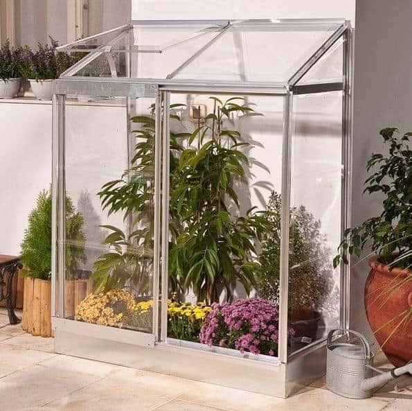4 x 2 Palram Lean To Cheap Greenhouse