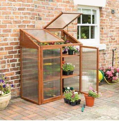 4'x2' Forest Wooden Small Mini Lean To Greenhouse (1.2x0.62m)