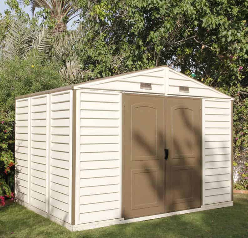 8' x 10' Suncast New Tremont Three Apex Roof Plastic Garden Storage Shed (2.43m x 3.11m)