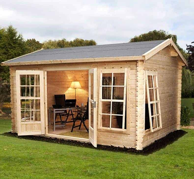Palmako Iris 3.9m x 3m Log Cabin Summerhouse (28mm)