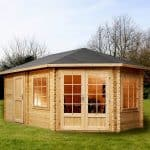 Garden Log Cabins - 16'5 x 9'10 Alpine Aspen Plus 28mm Garden Log Cabins