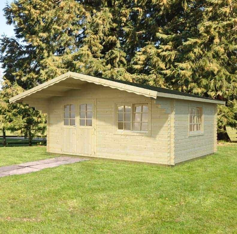 Palmako Lea 4.8m x 3.6m Log Cabin Garden Room (44mm)