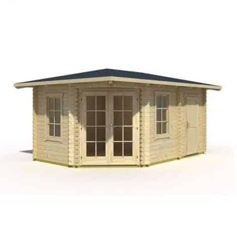 Palmako Melanie 2.8m x 2.8m Corner Log Cabin Summerhouse (44mm)