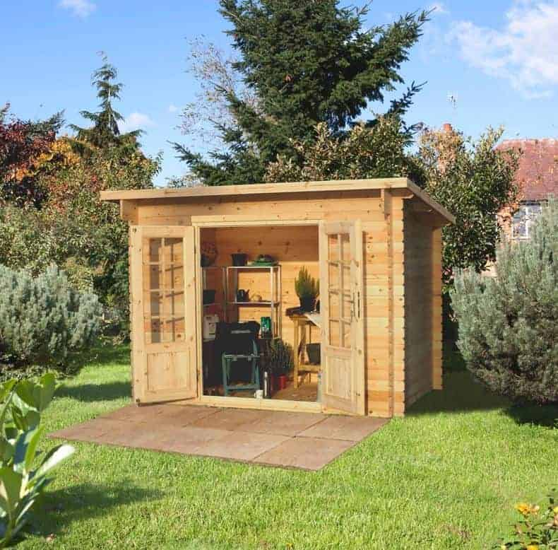 Forest Harwood 3m x 2m Log Cabin Shed (28mm)