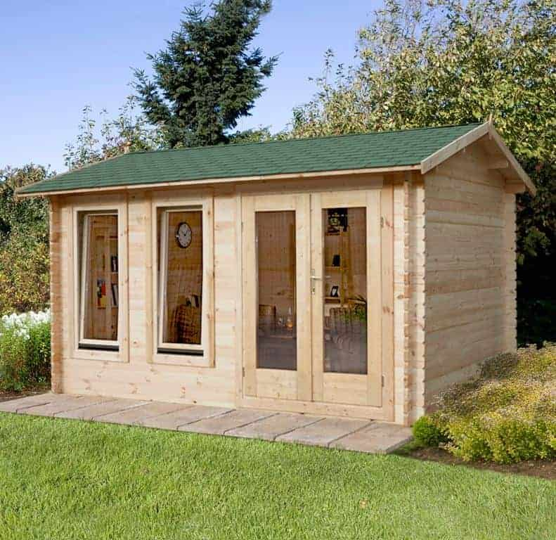 Forest Chiltern 4m x 3m Log Cabin Garden Room (34mm)