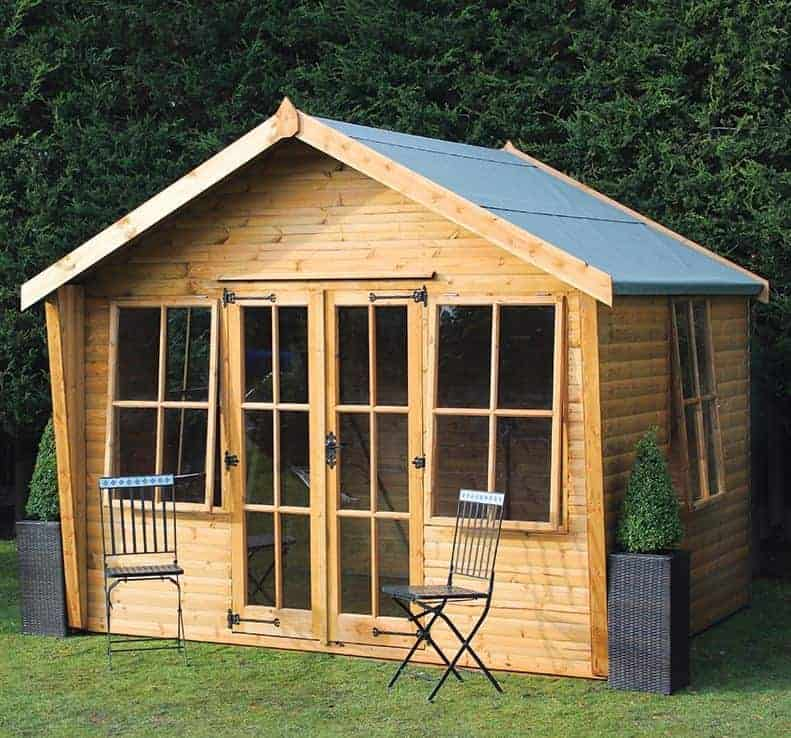 12x10 Traditional Wychwood Wooden Summerhouse