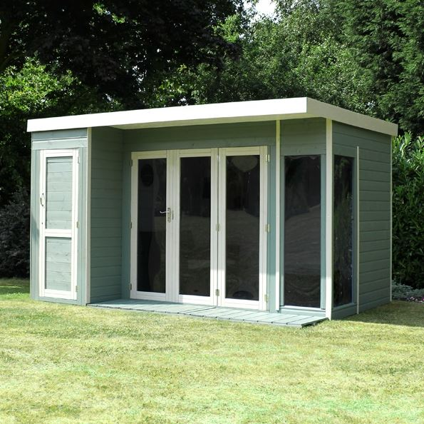 Waltons 10 x 8 Contemporary Summerhouse with Side Shed