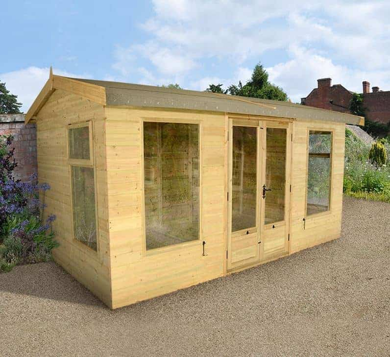 12x8 Champion Harvington Traditional Wooden Summerhouse
