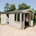 Luxury Summer Houses - 12 x 8 Ultimate Luxury Summer Houses With Rear Storage