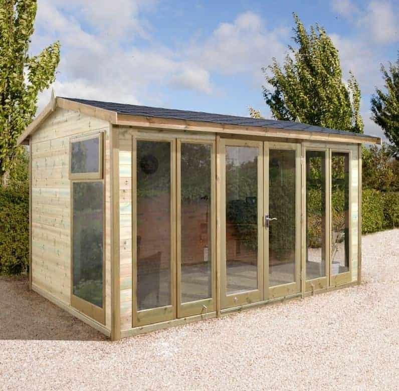 14x10 Ultimate Apex Garden Room - Fully Glazed