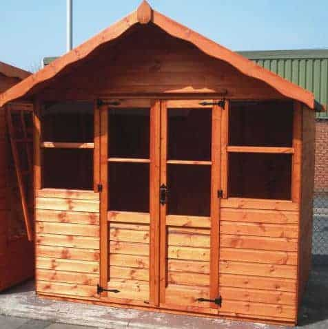 6'7x5'5 Shire Haddon Traditional Wooden Summerhouse