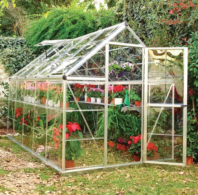 6'x10' Palram Harmony Walk In Silver Polycarbonate Greenhouse (1.8x3m)