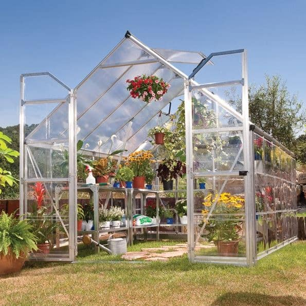 8'x12' Palram Balance Large Walk In Aluminium Framed Greenhouse (2.4x3.6m)
