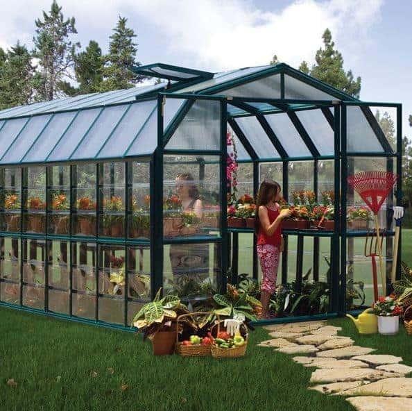 8'x20' Rion Grand Gardener Green Greenhouse (2.67x6.39m)