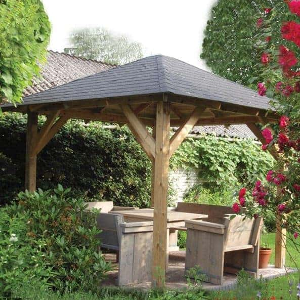 3.3x3.3m (11'x11') Palmako Betty Garden Pavilion - Luxury Gazebo
