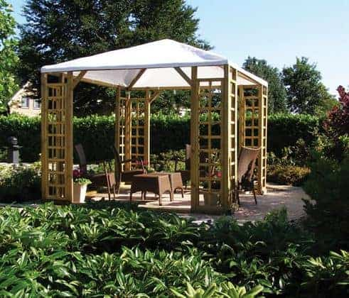 10x10 Forest Venetian Pavilion