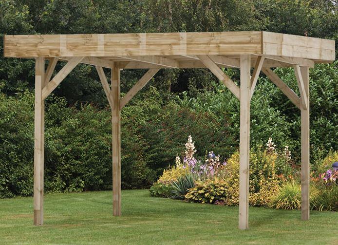 3.5x3.5m (11'x11') Palmako Lucy Luxury Garden Shelter - Pergola
