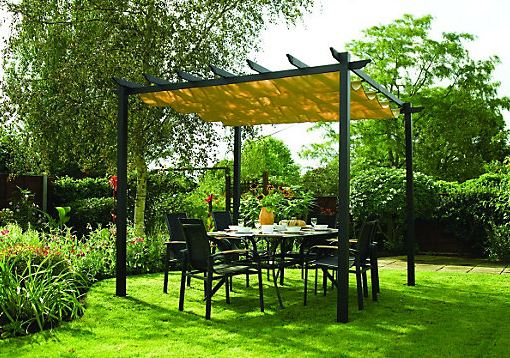 Angel Living 3X4M Gazebo Aluminum Pergola for Outdoor Garden Patio