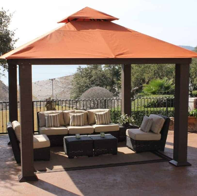 STC Seville Metal U0026 Fabric Patio Gazebo