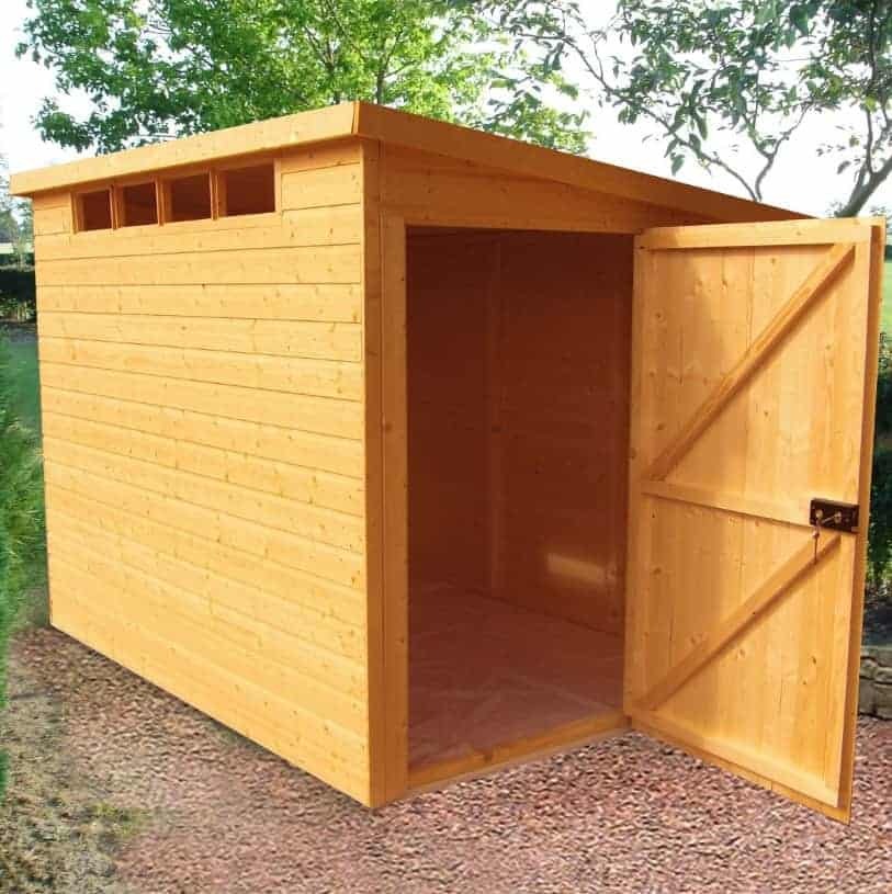 10' x 6' Traditional Pent Wooden Security Garden Shed (3.05m x 1.83m)