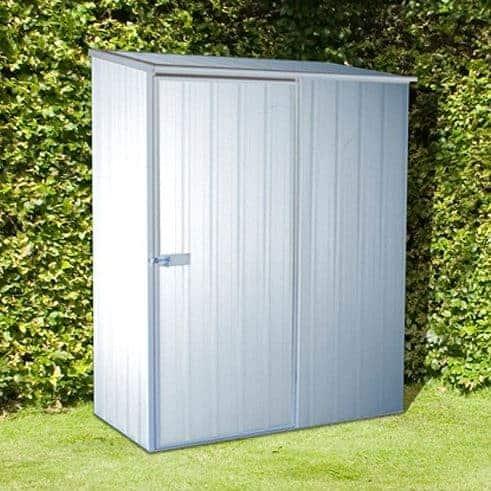 Adley 5' x 3' Titanium Pent Metal Shed
