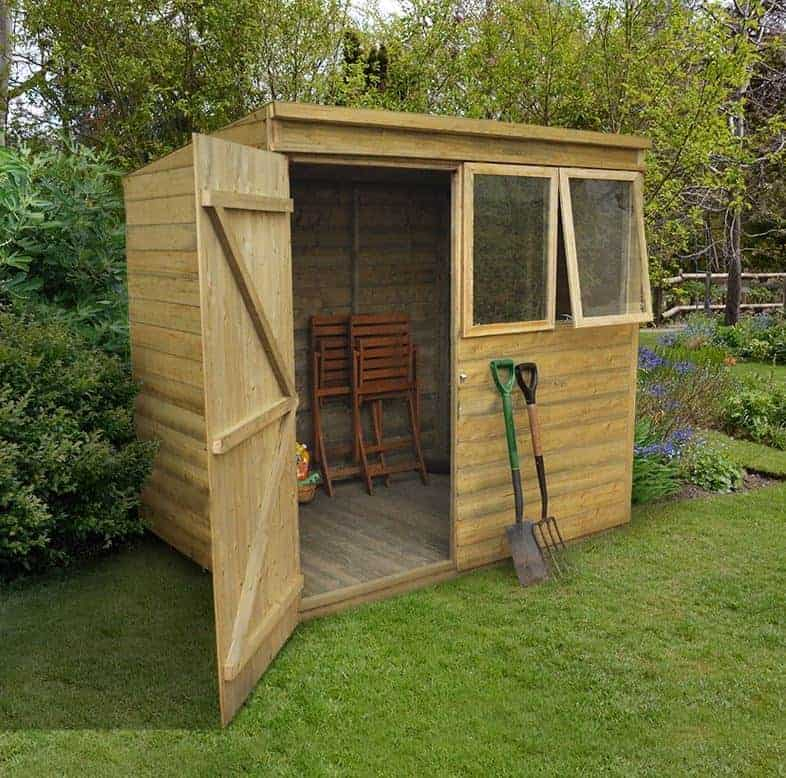 7' x 5' Forest Tongue & Groove Pent Shed Pressure Treated (2.09m x 1.63m)