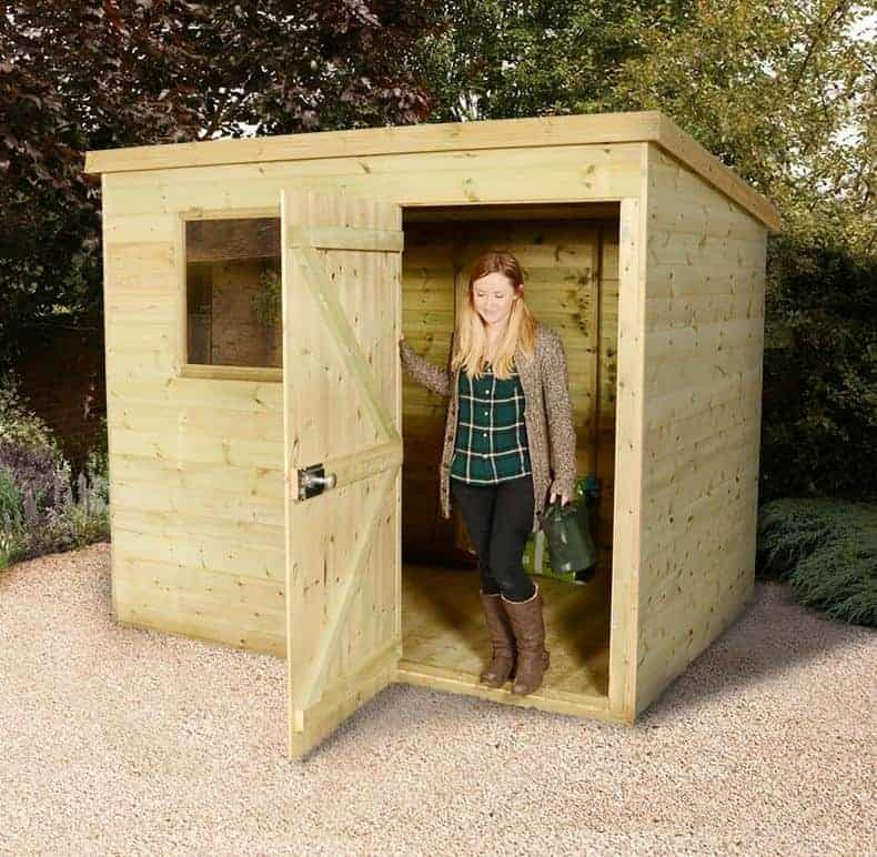 7' x 5' Shed Republic Ultimate Heavy Duty Pent Shed - Single Door on Right (2.21m x 1.6m)